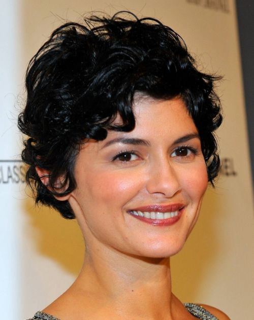audrey tautou curly pixie
