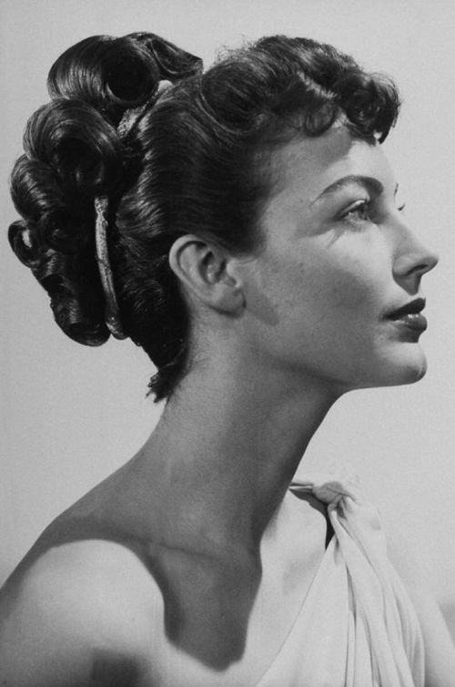 ava gardner vintage hair