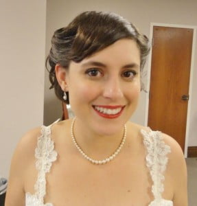 bridal back victory rolls