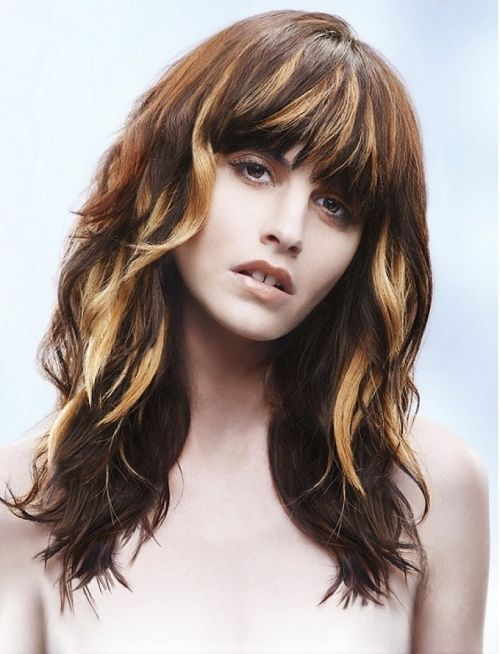bangs with highlights