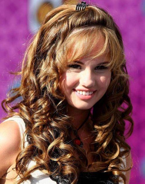 big bangs curly hair