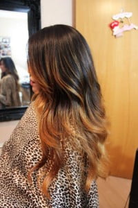 black honey ombre highlights