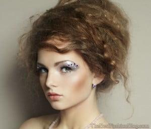 bold bouffant curly hair