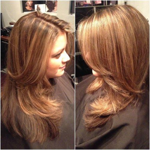 caramel on dark brown hair