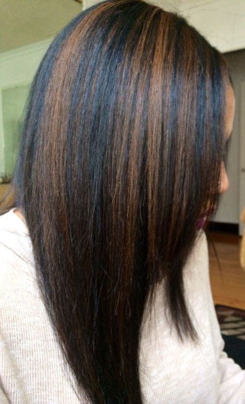 Short Dark Hair With Caramel Highlights Hairs Picture Gallery
