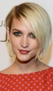 chic short bob highlights fine hair