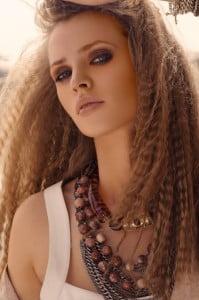 crimped hairdo