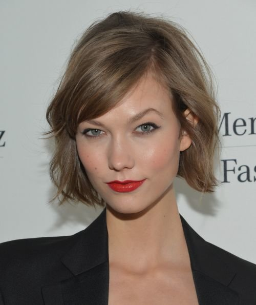 cropped waves short hair