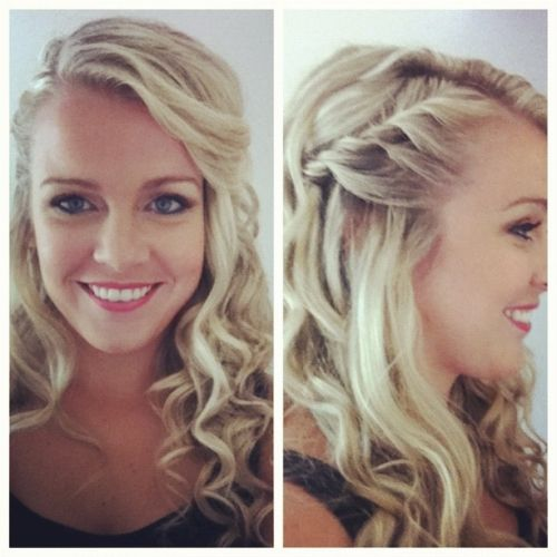 curly side braid