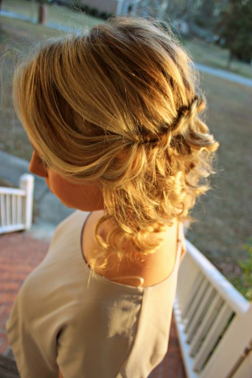 curly twist cute hairstyles