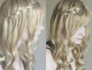 curly waterfall braid1