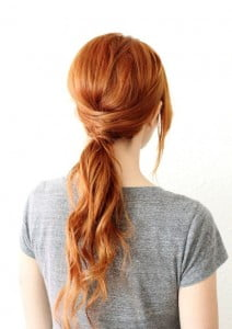fancy ponytail curly hair