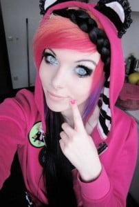 faun black emo hair