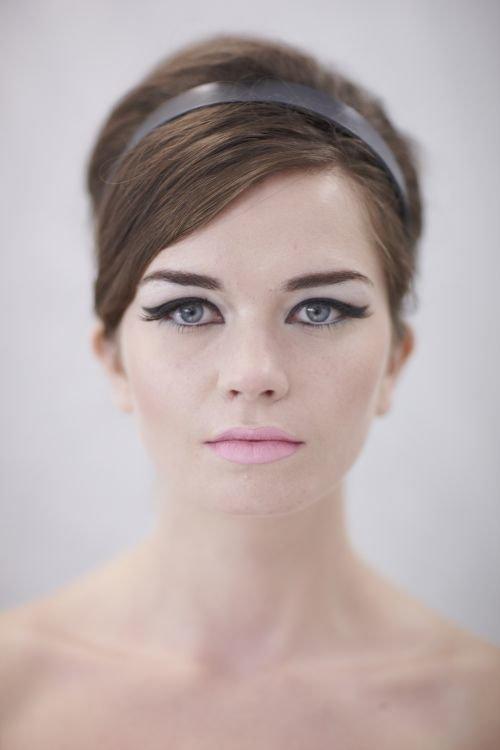 flat hair bold makeup