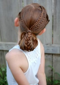 folded french braid
