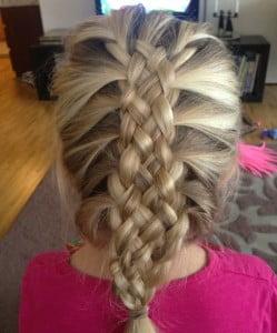 four strand french braid