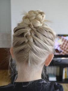 french braided bun
