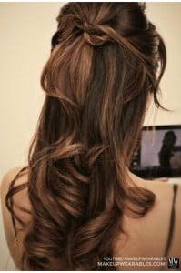 half updo curly hair
