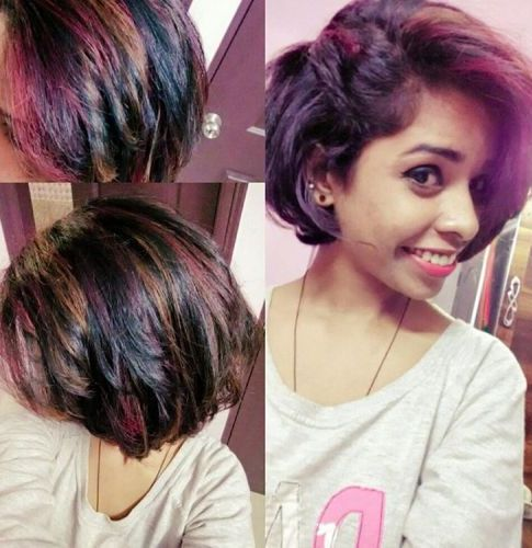 Highlights on bob haircut