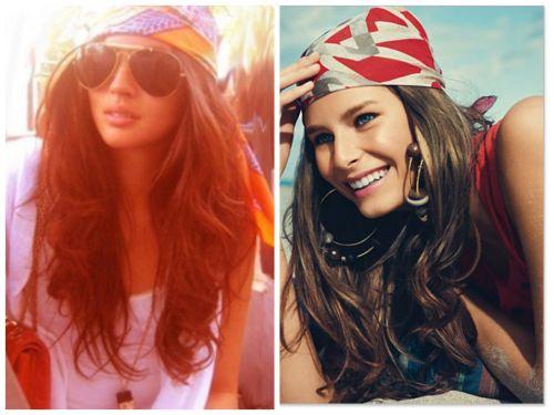 hippie headband curly hair