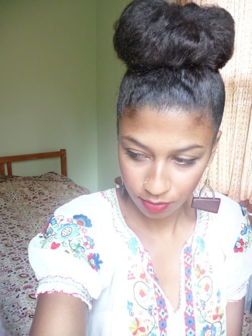 lady bug bun black girls