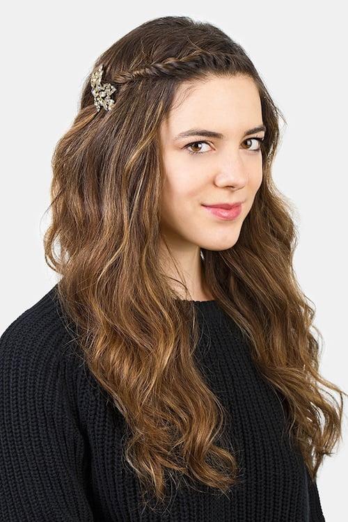 long hair twist and pin