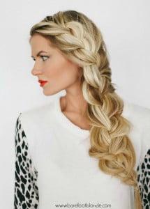 long thick side braid