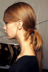 looped ponytail