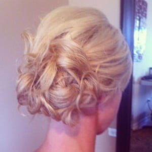 loose pinned updo