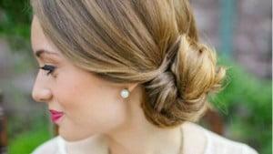 low knot wedding hair