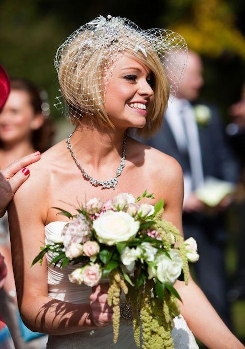 sleek bob wedding hair