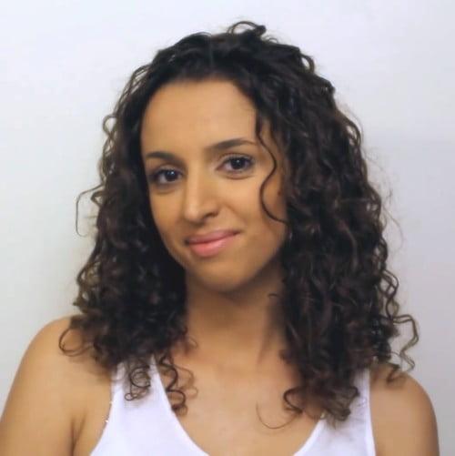 soft frizzy curls