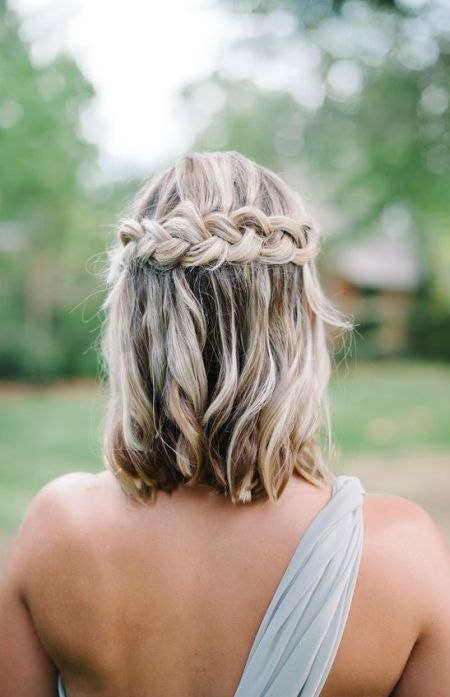 73 unique wedding hairstyles for different necklines 2017 wedding braids for short hair junglespirit Images