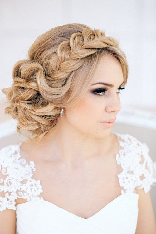 french braid wedding hair