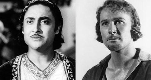 Ashok Kumar and Errol Flynn