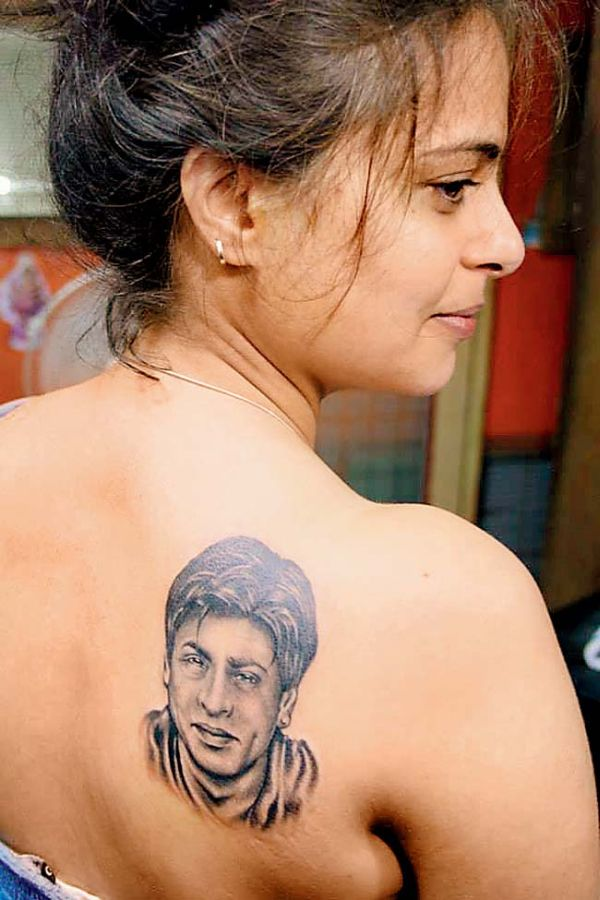 Bollywood fan with celebrity tattoo