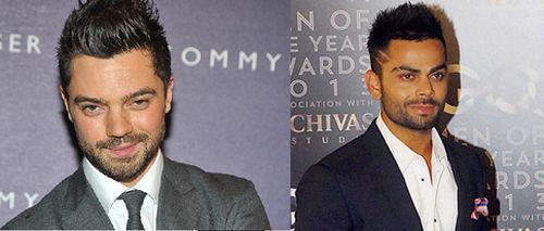 Dominic Cooper and Virat Kohli
