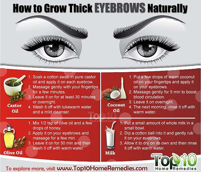 Grow thiker eyebrows naturally