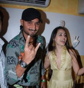 Harbhajan Singh and Geeta Basra