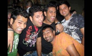Indian cricketers group photo