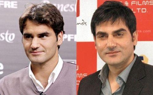Roger Federer and Arbaaz Khan