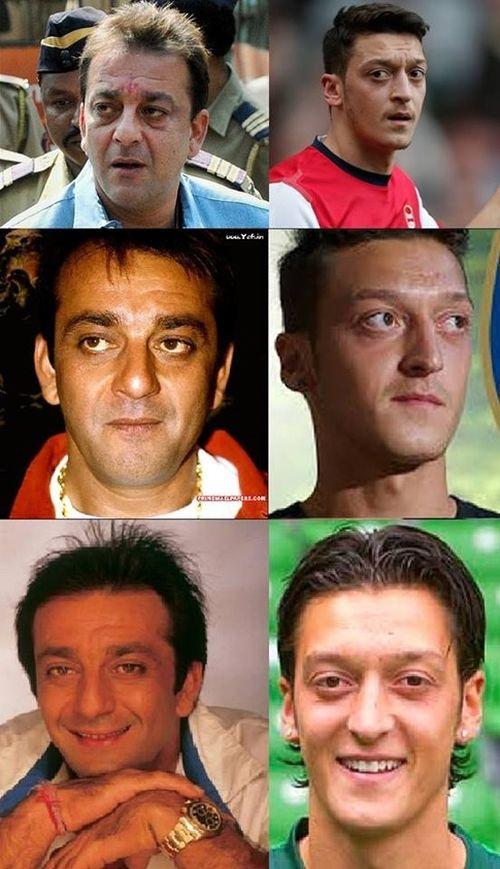 Sanjay Dutt and Mesut Özil