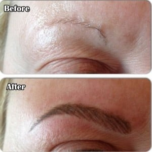 Semi or Easy Eyebrow Tattoo Before After Photos