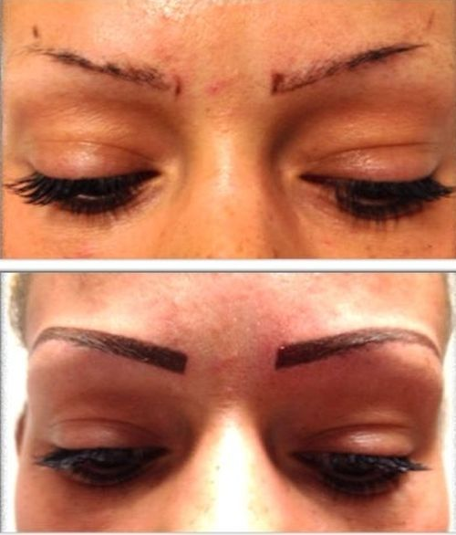 Semi permanent eyebrows tatoss