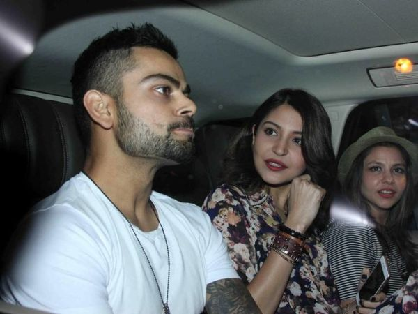 Virat Kohli and Anushka Sharma at party