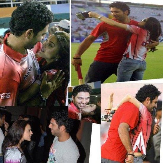 Yuvraj Singh and Preity Zinta