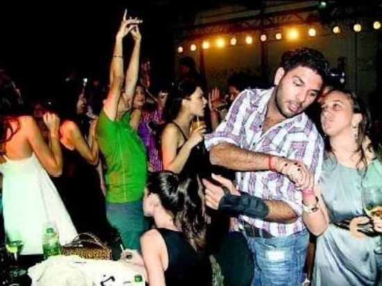 Yuvraj Singh in party