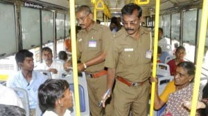 in bus without ticket