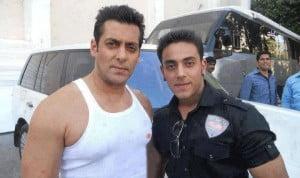 Salman Khan with his duplicate