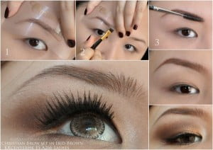 Eyebrow Stencils before after